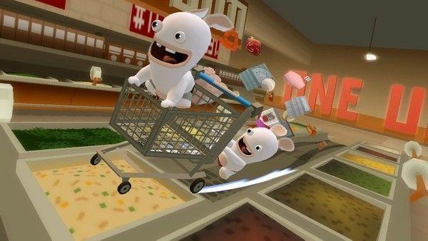 Lapins crétins supermarché