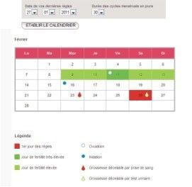 calendrier de fertilit calendrier r gle ovulation. Black Bedroom Furniture Sets. Home Design Ideas