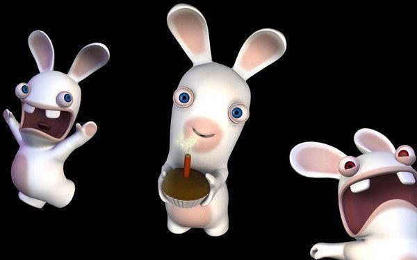 Lapins crétins joyeux anniversaire